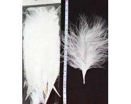 Перья марабу White