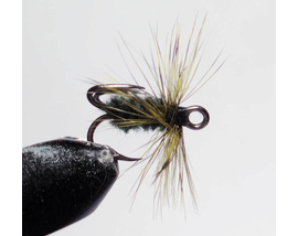 Мушка на тройнике темно-оливковая