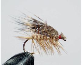 мушка Elk hair caddis lt.brown