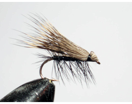мушка Elk hair caddis black