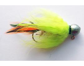 Джиг-мушка Bunny-Chartreuse-Orange