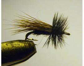 Мушка на двойнике Elk Hair Black