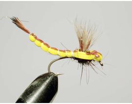 мушка стрекоза Mayfly yellow