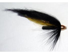Лососевая мушка Yellow-Black 1