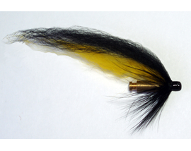 Лососевая мушка Yellow-Black Bullet