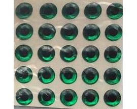 самоклеющиеся глаза зеленые