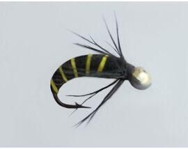 Мушка на мормышке желтая оса