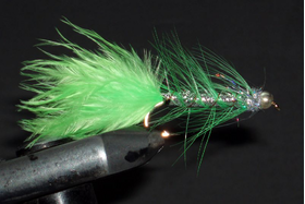 Стример Woolly Bugger silver-chartreuse