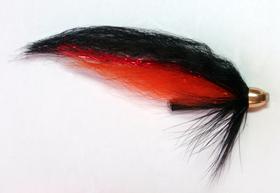Лососевая мушка Red-Black Bullet 1