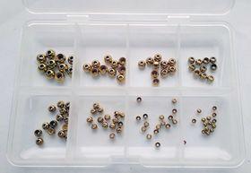 Набор 100 латунных шариков, золото