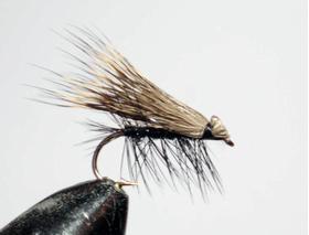 мушка Elk hair caddis black