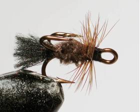Мушка на тройнике коричневая
