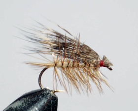 мушка Elk hair caddis lt.brown