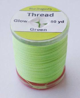 Нить монтажная зеленая glow