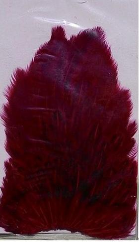 Скальп Hen Cape Dark-Red