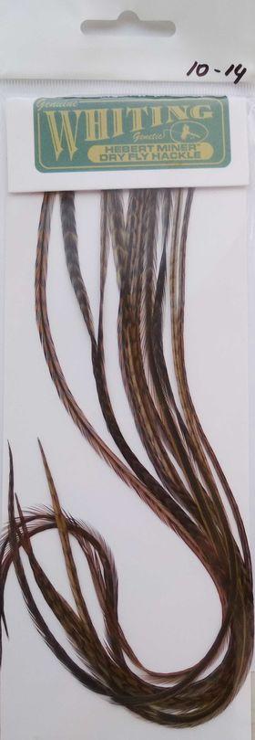 Седло петуха. 10 перьев grizzly brown