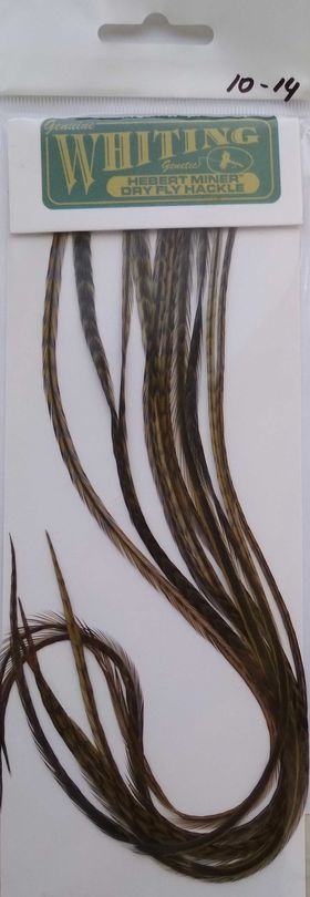 Седло петуха. 10 перьев grizzly olive