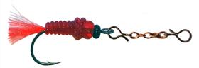 Зимняя мушка подвеска на цепочке красная